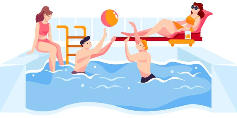 pool fun illustration